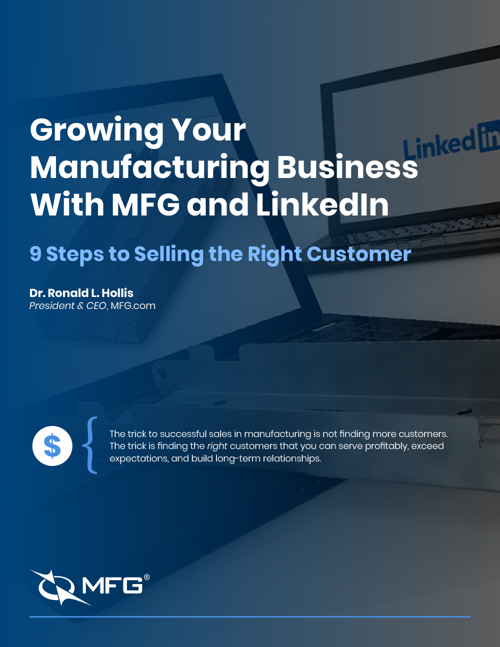 The Cover of Growing Your Manufacturing Business with MFG and LinkedIn